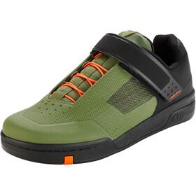 Crankbrothers Stamp Speedlace Shoes, verde/naranja